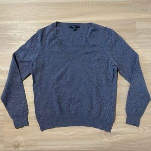 Boden Cashmere Angora Blend V Neck Sweater